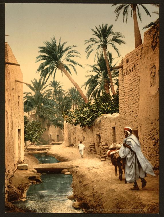 Una calle en Biskra, Argelia